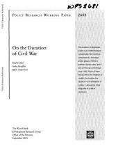 On the Duration of Civil War