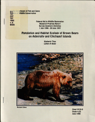 Population and Habitat Ecology of Brown Bears on Admiralty and Chichagof Islands PDF