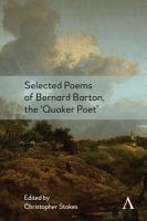Selected Poems of Bernard Barton  the  Quaker Poet  PDF