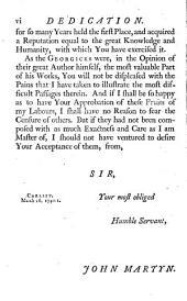 Publii Virgilii Maronis Georgicorum Libri Quatuor. The Georgicks of Virgil: With an English Translation and Notes