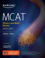 MCAT Physics and Math Review 2020 2021 PDF