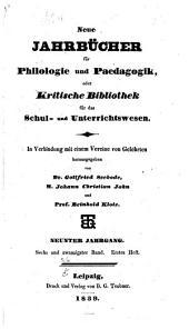 Neue Jahrbücher für Philologie und Paedagogik: Band 26