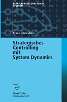 Strategisches Controlling mit System Dynamics PDF