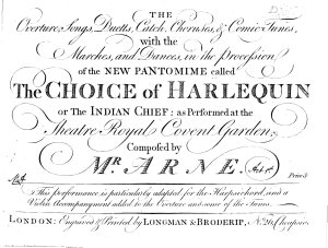 The Overture  Songs  Duetts  Catch  Choruses    Comic tunes  with the Marches  and Dances  in the Procession of the New Pantomime Called The Choice of Harlequin Or The Indian Chief  PDF
