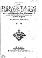 Hypomnēsis, Sive Dehortatio Magis, Facta Non Defunctorie, Aut Neglecte Ad Electorem Saxonem