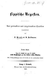 Lippische Regesten: aus gedruckten und ungedruckten Quellen bearbeitet von O. Preuss und A. Falkmann, Band 3