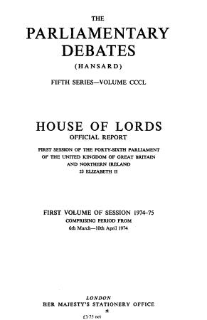 The Parliamentary Debates  Hansard   PDF