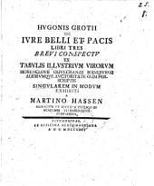 Hugonis Grotii de iure belli et pacis libri tres brevi conspectu ... exhibiti: Volume 1