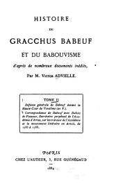 Histoire de Gracchus Babeuf et du babouvisme: d'après de nombreux documents inédits