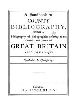 A Handbook to County Bibliography PDF