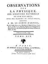 Journal de physique, de chimie, d'histoire naturelle et des arts: Volume 14