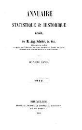 Annuaire statistique et historique belge 1855: Volume2