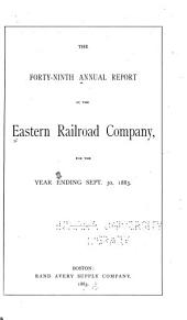 The ... Annual Report of the Eastern Rail Road Company for the Year Ending May 31st ...