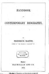 Handbook of Contemporary Biography