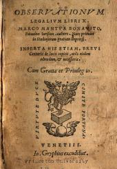 Obseruationum legalium libri X