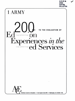 2002 Guide to the Evaluation of Educational Experiences in the Armed Services PDF