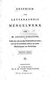Geschied- en letterkundig mengelwerk: Volume 3,Nummer 2