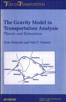 The Gravity Model in Transportation Analysis PDF