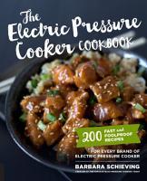 The Electric Pressure Cooker Cookbook PDF