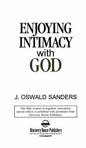 Enjoying Intimacy with God PDF