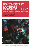 Contemporary Language Motivation Theory PDF