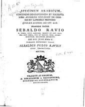 Specimen Arabicum continens descriptionem et excerpta libri Achmedis Teifaschii de gemmis et lapidibus pretiosis