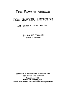 The Writings of Mark Twain  Tom Sawyer abroad  Tom Sawyer detective  and other stories PDF
