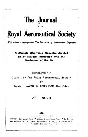 The Journal of the Royal Aeronautical Society PDF