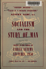 Socialism and the Study of Man