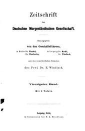 Zeitschrift der Deutschen Morgenländischen Gesellschaft: Band 40