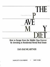 The Park Avenue Money Diet PDF