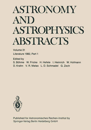 Astronomy and Astrophysics Abstracts PDF