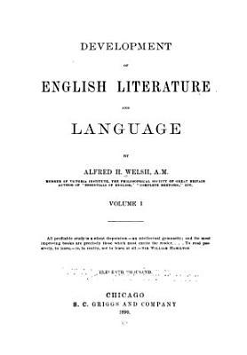 Development of English Literature and Language PDF