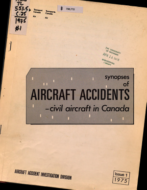 Synopses of Aircraft Accidents PDF