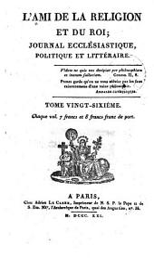 L'Ami de la religion: journal ecclésiastique, politique et littéraire ..., Volume26