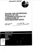 Income and Nutritional Effects of the Commercialization of Agriculture in Southwestern Kenya
