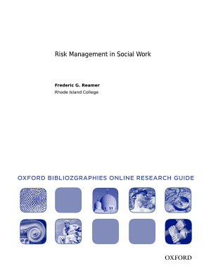 Risk Management in Social Work  Oxford Bibliographies Online Research Guide