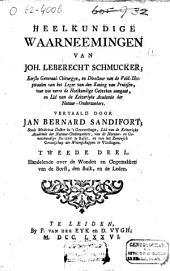 Heelkundige waarneemingen van Joh. Leberecht Schmucker ...
