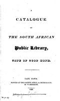A catalogue of the South African public library PDF