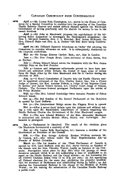 Chronology of Canadian History from Confederation in 1867 Up to the End of 1900