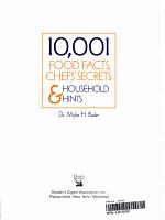 10 001 Food Facts  Chefs  Secrets   Household Hints PDF