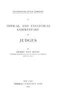 A Critical and Exegetical Commentary on Judges PDF