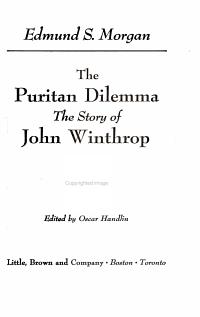 The Puritan Dilemma