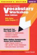 Vocabulary Workshop Level D Teacher s Edition  New Edition  Book