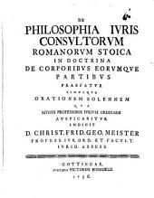 De philosophia iuris consultorum romanorum stoica in doctrina de corporibus eorumque partibus