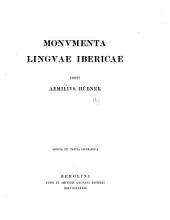 Monvmenta lingvae iboricae edidit Aemilivs Hübner...
