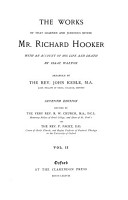 The Works of that Learned and Judicious Divine  Mr  Richard Hooker PDF