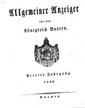 Allgemeiner Anzeiger für das Königreich Bayern: gerichtliche und polizeyliche Bekanntmachungen, Band 4