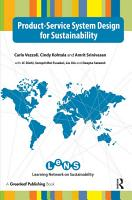 Product Service System Design for Sustainability PDF