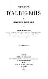 Petits états d'Albigeois ou Assemblées du diocèse d'Albi